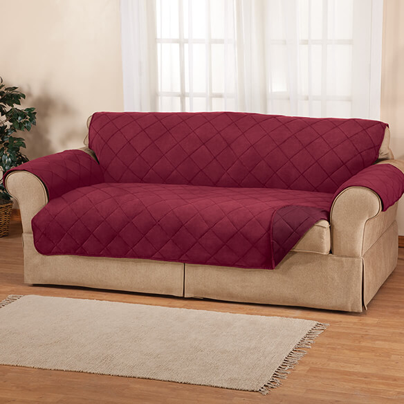 Naomi Suede-Microfiber Loveseat Cover by OakRidge™ - View 3