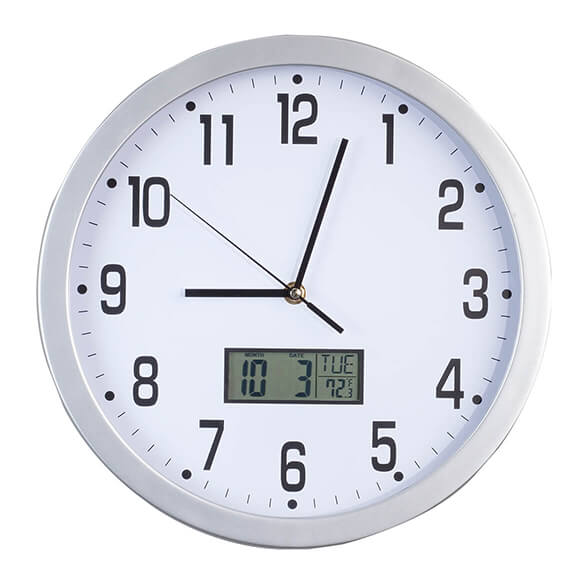 "Easy-Read 12"" Multifunction Wall Clock - View 2"
