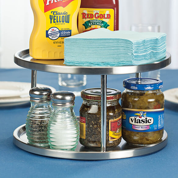 Two Tier Stainless Lazy Susan - View 2