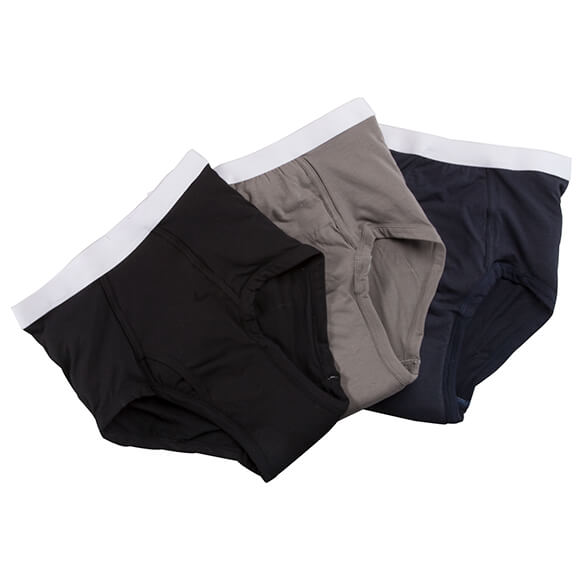 Men's 20 oz. Incontinence Briefs 3 pack Assorted Colors - View 2