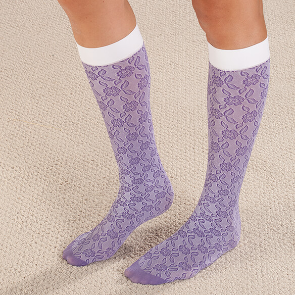 Celeste Stein Lace Compression Socks, 8-15 mmHg - View 3