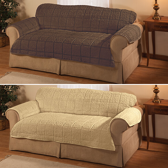 Bradley Sherpa Loveseat Protector by OakRidge - View 3