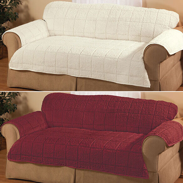 Bradley Sherpa Loveseat Protector by OakRidge - View 4