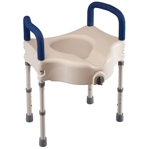 Bariatric Raised Toilet Seat with Arms - View 2