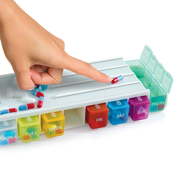 Weekly Pill Sorter & Organizer with Cutter - View 2