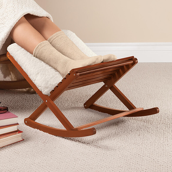 Deluxe Foldable Rocking Footrest - View 2