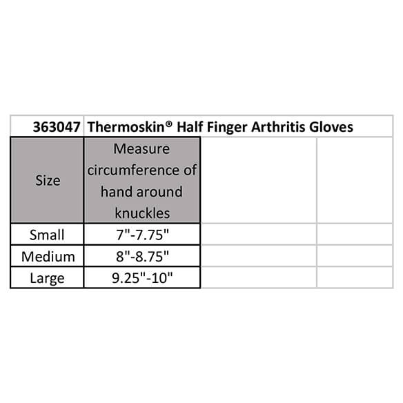 Thermoskin® Half Finger Arthritis Gloves - View 4