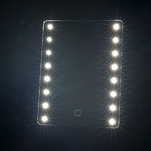 Light-Up Makeup Mirror with 10x Magnifier - View 4
