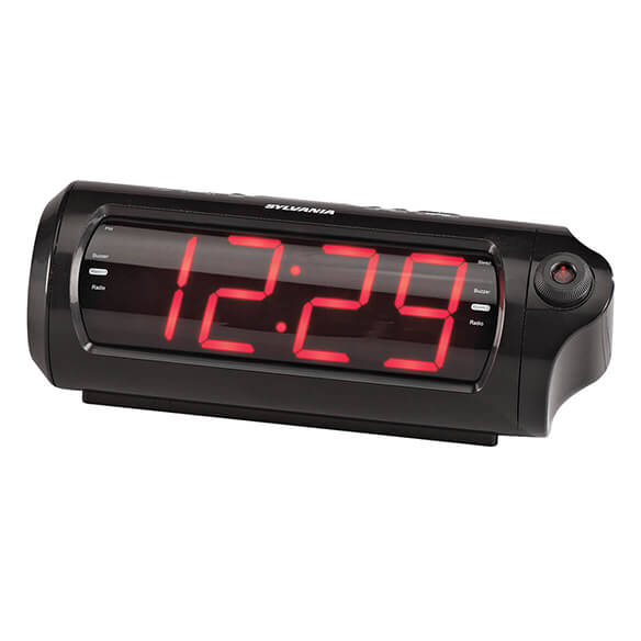 Jumbo Digit Projection Clock/Radio with USB Charging - View 2