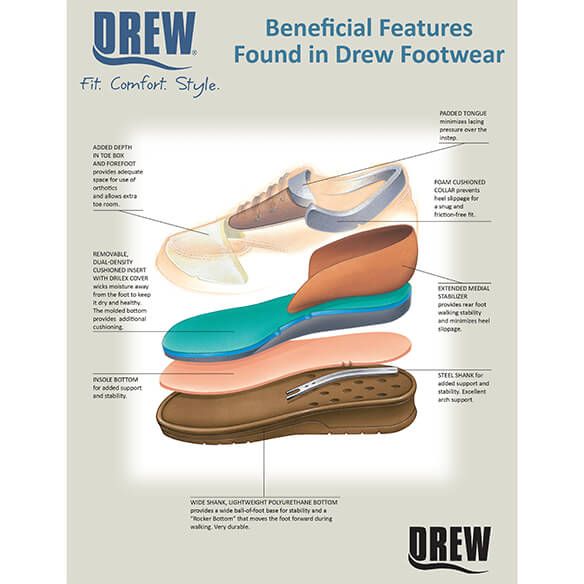 Drew® Savannah Women's Therapeutic Diabetic Shoe - View 5