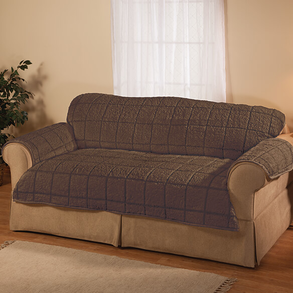 Parker Water-Resistant Sherpa Loveseat Cover by OakRidge™ - View 2