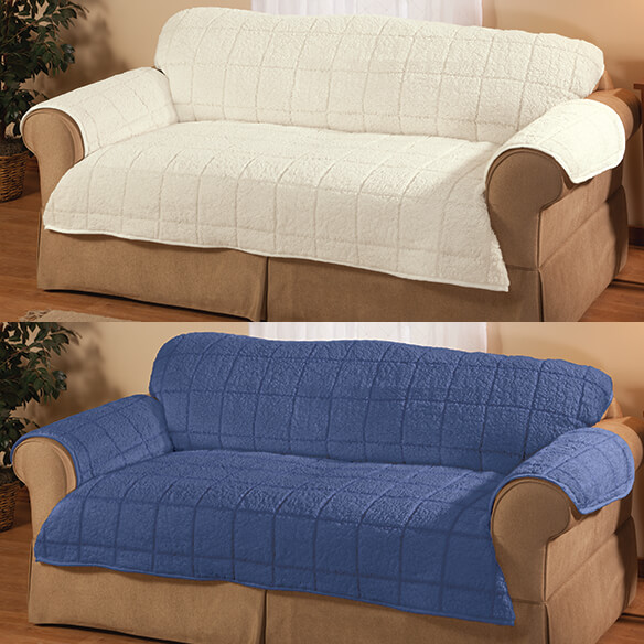 Parker Water-Resistant Sherpa Loveseat Cover by OakRidge™ - View 5