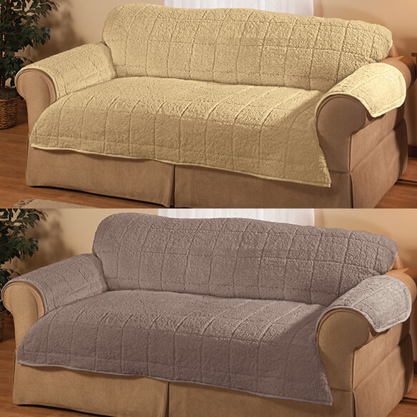 Parker Water-Resistant Sherpa Sofa Protector by OakRidge™ - View 4