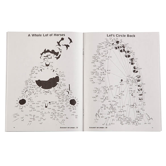 Brain Games® Large Print Dot-to-Dot Puzzle Books, Set of 5 - View 2