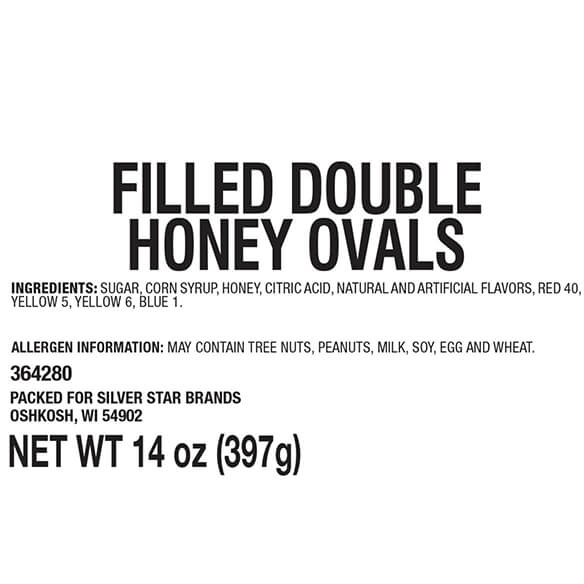 Filled Double Honey Ovals - View 3