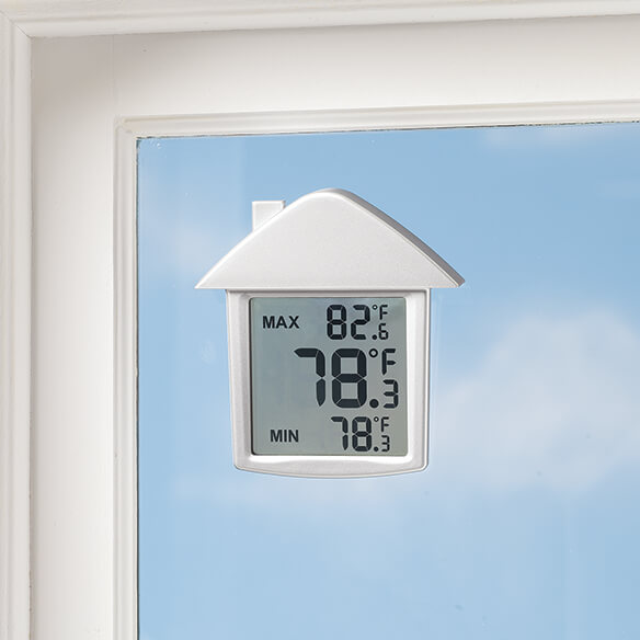 Digital LCD Window Thermometer - View 2