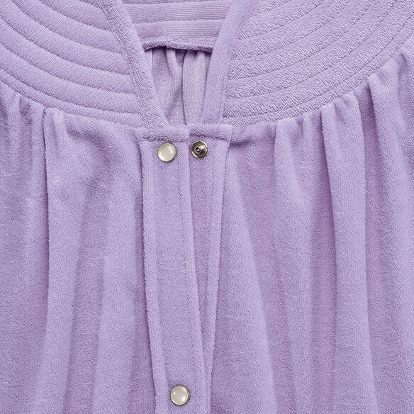 Short Sleeve Terry Snap Robe - View 3
