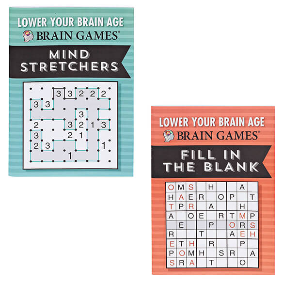 Brain Games® Lower Your Brain Age Books, Set of 8 - View 2