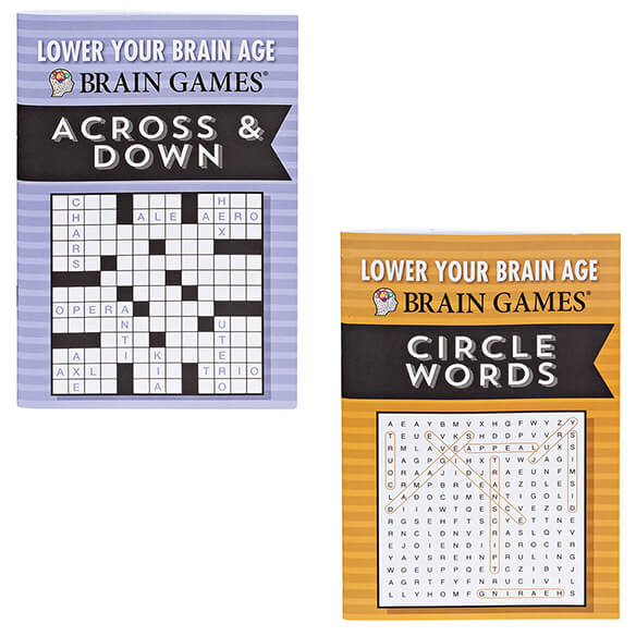 Brain Games® Lower Your Brain Age Books, Set of 8 - View 4