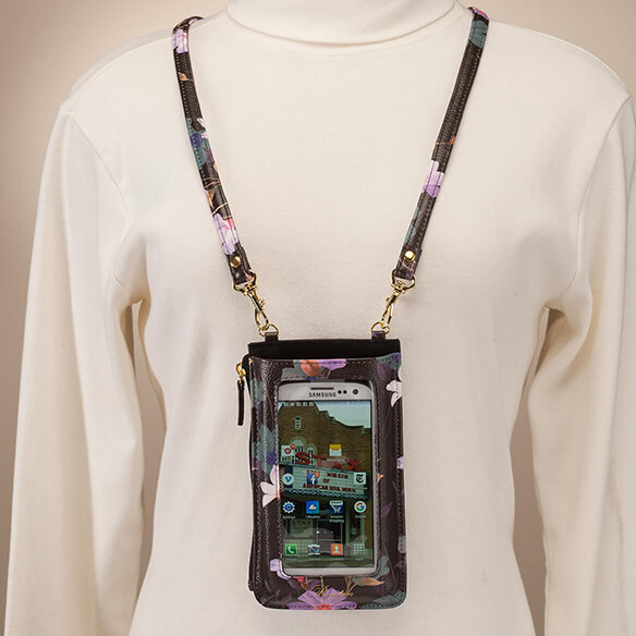 Buxton® Cellphone Window Floral Lanyard - View 2