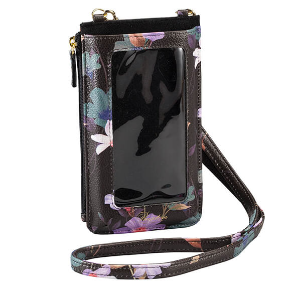 Buxton® Cellphone Window Floral Lanyard - View 3