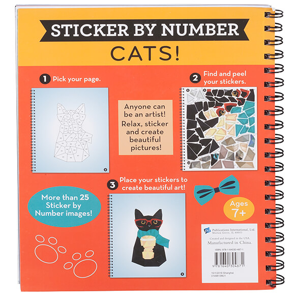 Brain Games® Sticker by Number Cats! Book - View 3
