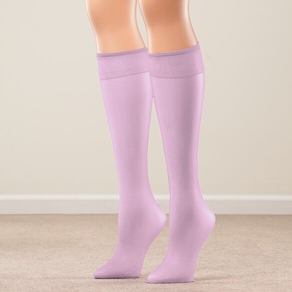 Nylon Knee Highs, Set of 20 Pairs - View 3