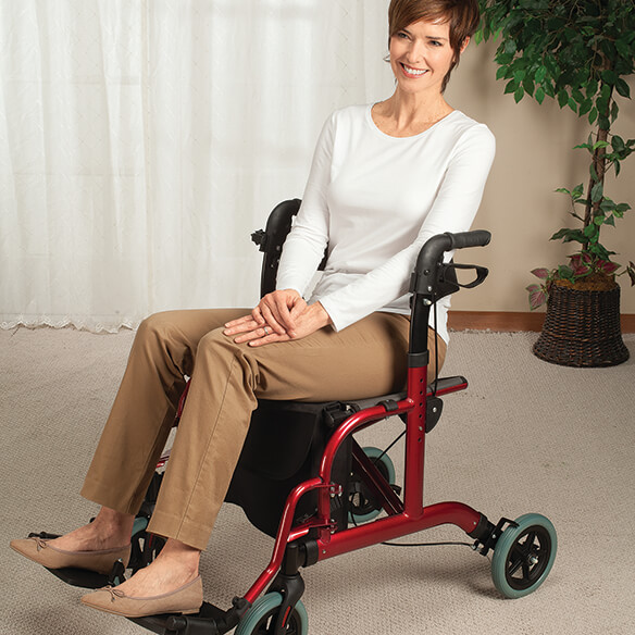2-in-1 Rollator and Transport Chair - View 2
