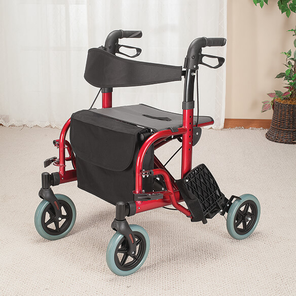 2-in-1 Rollator and Transport Chair - View 3