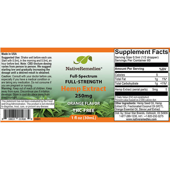 NativeRemedies® Full-Strength Hemp Extract 250mg - View 4