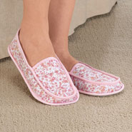 Fleece Apparel & Slippers - Chintz Soft Slippers