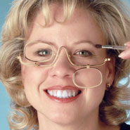 Vision Loss - Magnifying Makeup Glasses