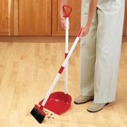 Arthritis Aids - Long Handled Dust Pan With Broom