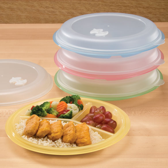 Divided Plates And Food Storage Containers - Set Of 4 : sectional plates with lids - Sectionals, Sofas & Couches