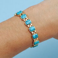 Apparel Accessories - Turquoise Magnetic Bracelet
