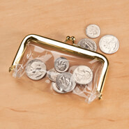 New - Clear Plastic Coin Purse