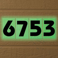 Outdoor - Glow In The Dark House Number