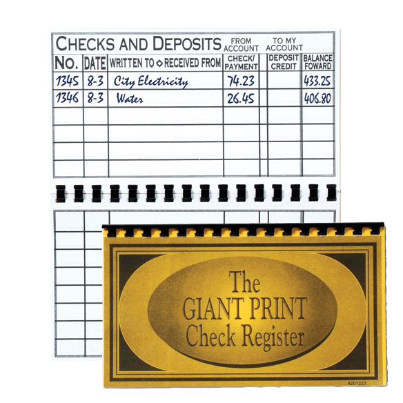 large print check register checkbook register easy comforts