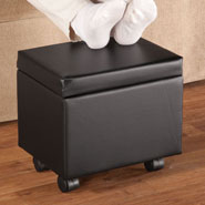 Home Comforts - Flip Top Small Storage Ottoman by OakRidge™ Accents