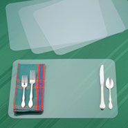 Kitchen Helpers - Clear Plastic Placemats