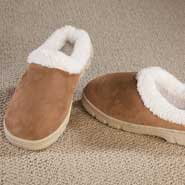 Fleece Apparel & Slippers - Women's Suede Slippers