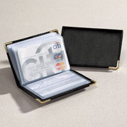 Values under $4.99 - Personalized Leather Credit Card Holder