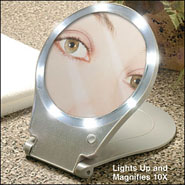 Bathroom Accessories - 10x Magnifying Mirror