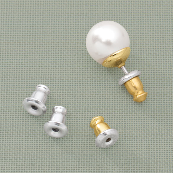 Bullet Earring Backs - 6 Pairs