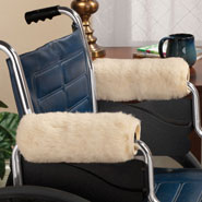 Proudly Made in the U.S.A. - Sherpa Wheelchair Armrest Cover Set 2