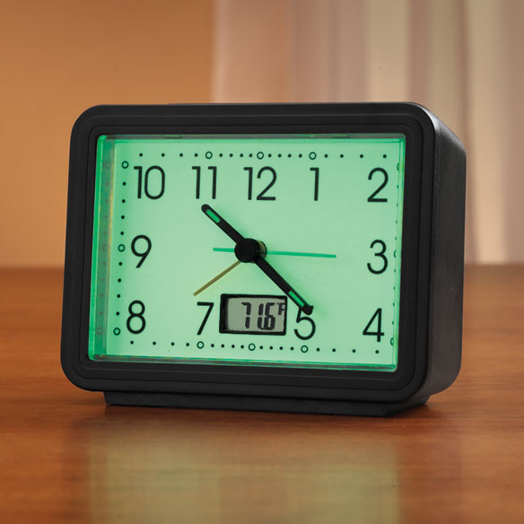 Bell + Howell® Glow In The Dark Alarm Clock