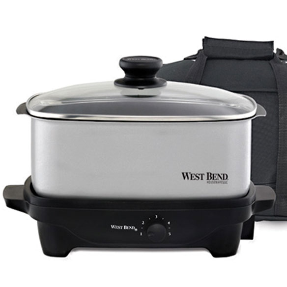 West Bend® Cook & Tote™ - Stainless - View 1