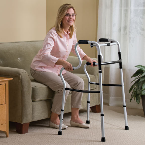 Sit To Stand Lightweight Folding Walker