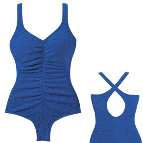 Textured Shirred Front Swimsuit