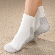 Hosiery - Women's Diabetic Sports Socks - 2 Pairs.